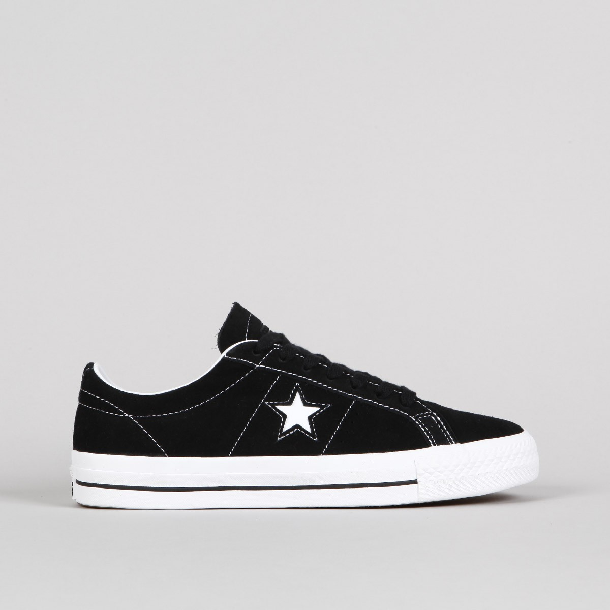 Converse One Star Trainers Field Surplus Black White - His